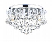 Fringe Bathroom Flush in Polished Chrome with Crystal Glass Decoration IP44 - där FRI0450